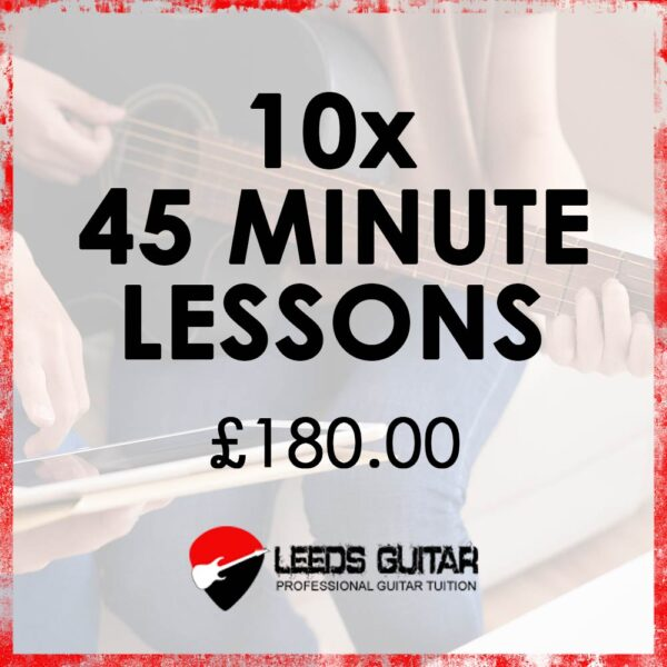 10 x 45 minute guitar lessons