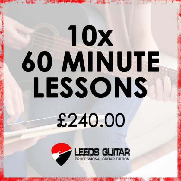 10 x 60 minute guitar lessons