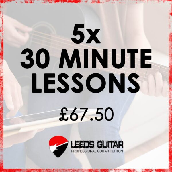 5 x 30 minute guitar lessons