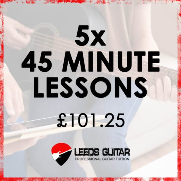 5 x 45 minute guitar lessons