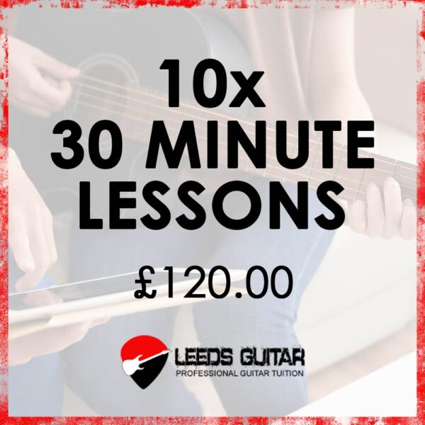 10 x 30 minute guitar lessons